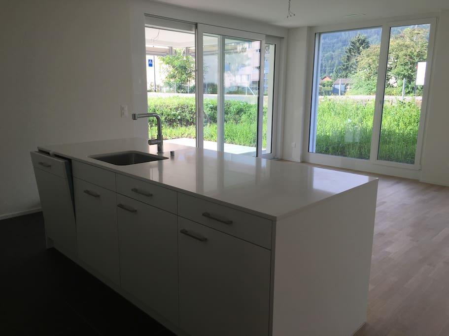 Küche zur Benutzung für alle Gäste