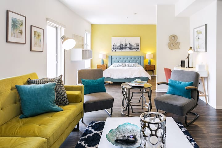 Colorful Mid-Century Inspired Apartment