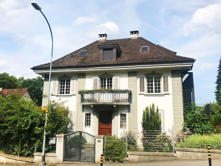Moderne Loft-Dachwohnung in Luzerner Stadtvilla