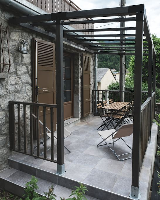 Terrasse privée de 14 m carré