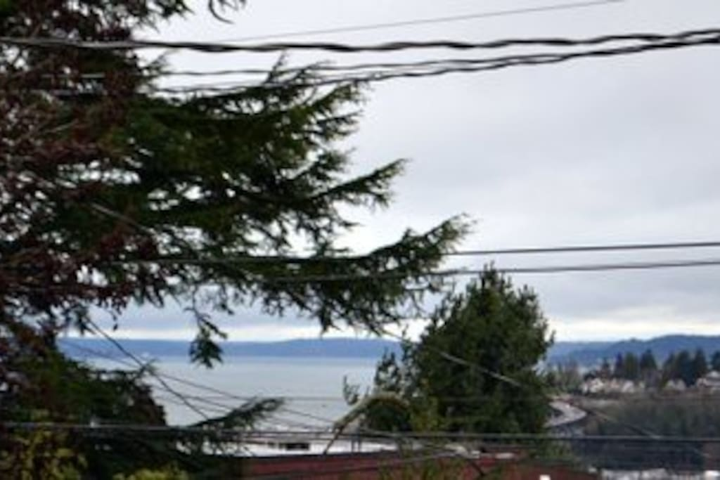 View from front deck of Elliot Bay and Magnolia