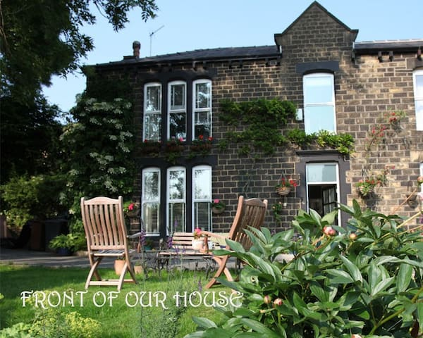 Victorian Family Room on the Pennine Edge Forest - Dobcross - Huis