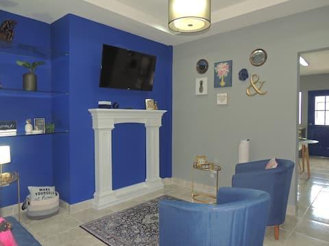 Blue & Bright Modern Home
