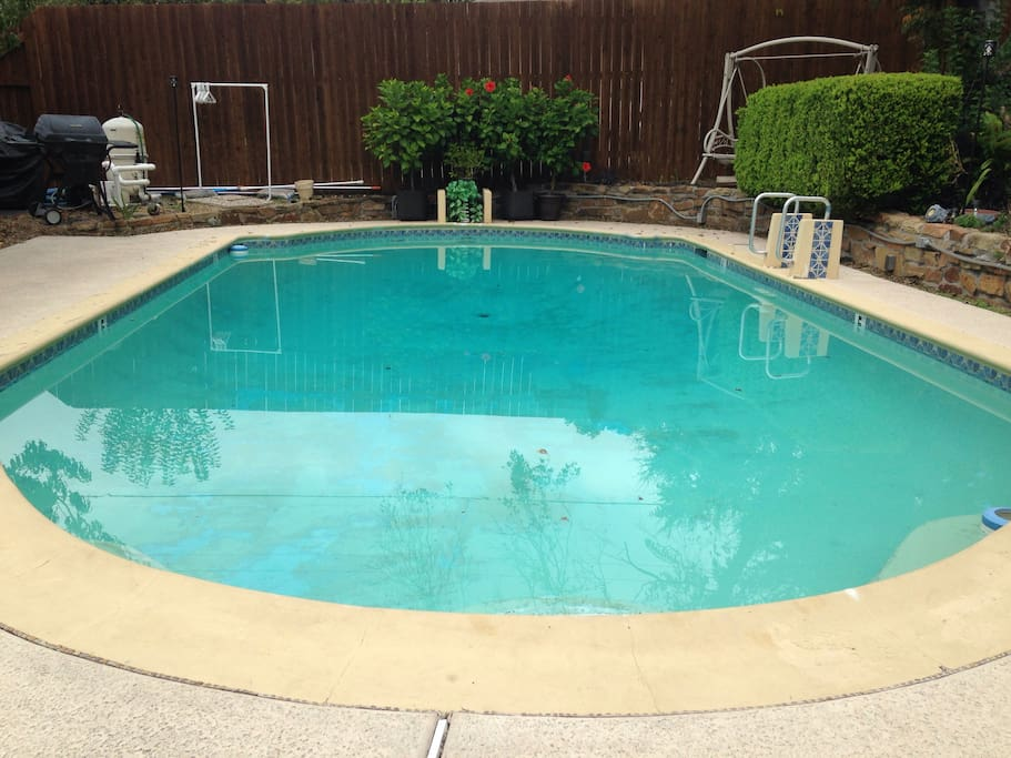 Your Home has a Big Private Pool 3ft to 9ft deep!