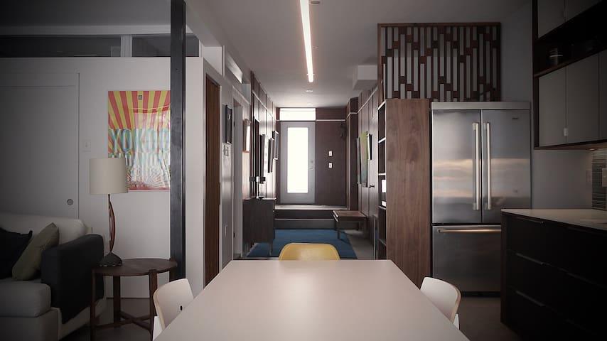 Appartement/loft, spacieux et original.
