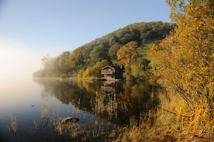 The boat house on the shores of Ullswater lake our closest lake only 20 minutes drive away