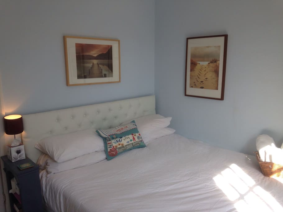 Second bedroom with super king size bed with memory foam mattress.