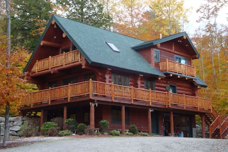 Highland Lake Acess  Real Log Home