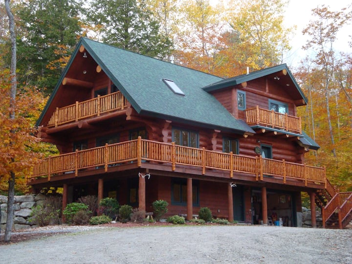 Highland Lake Acess  Real Log Home