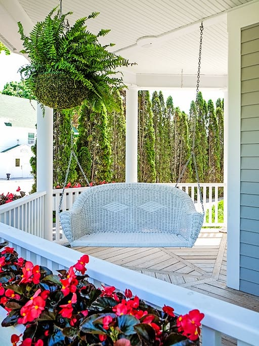 Lovely Swing on Front Porch
