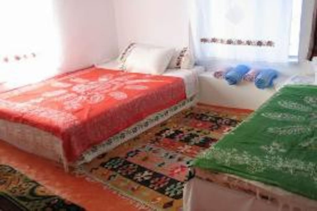 comfortable airy bedrooms with double beds