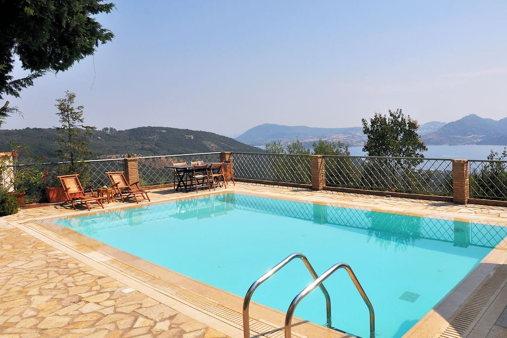 Villa Aethra Pool area