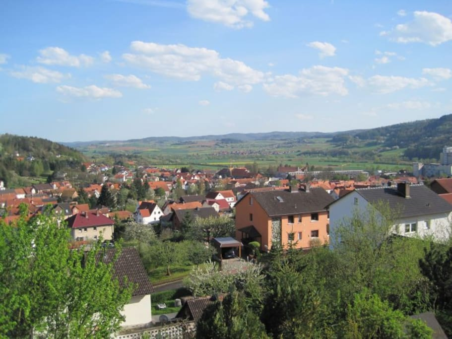 Ausblick ins Fuldatal