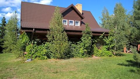 Dom drewniany na Suwalszczyźnie