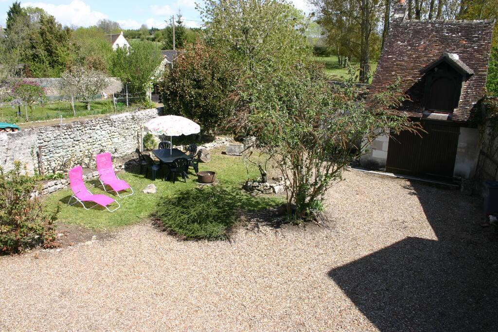 Vue sur jardin depuis l'étage