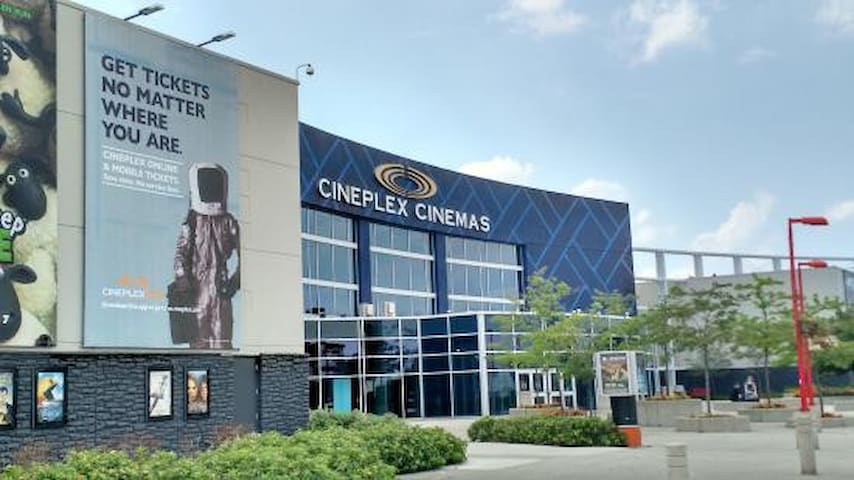 Walking distance from the apartment. Catch all the new movies and an IMAX experience at the Cineplex Cinemas
