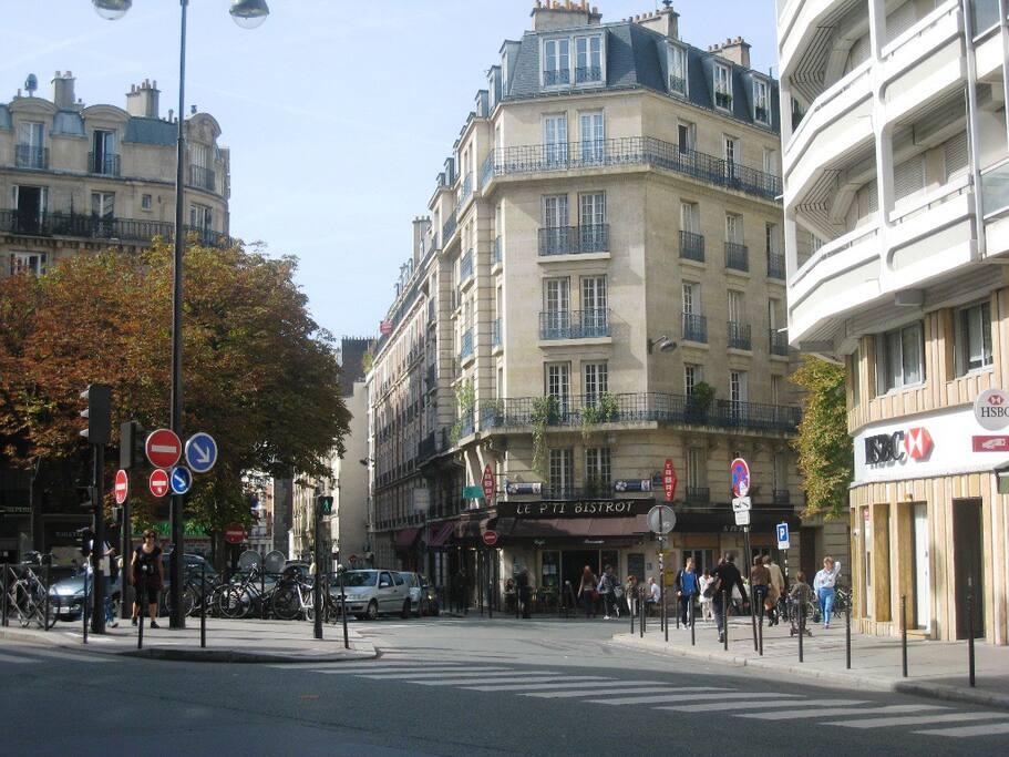 Angle rue Vaugirard / rue Saint Lambert