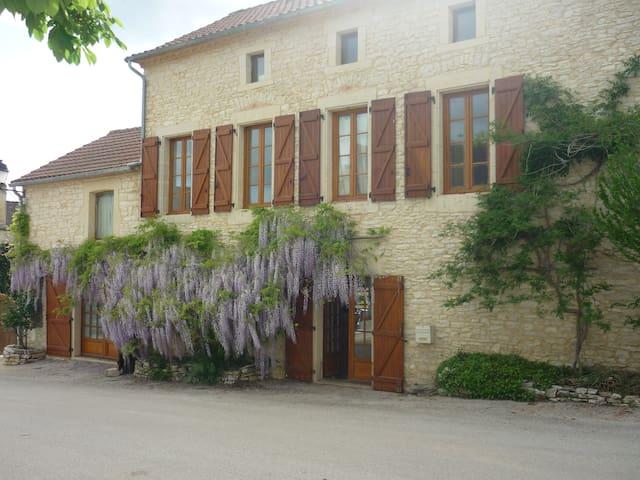 Belle et vaste maison en pierres   - Montgesty - Casa
