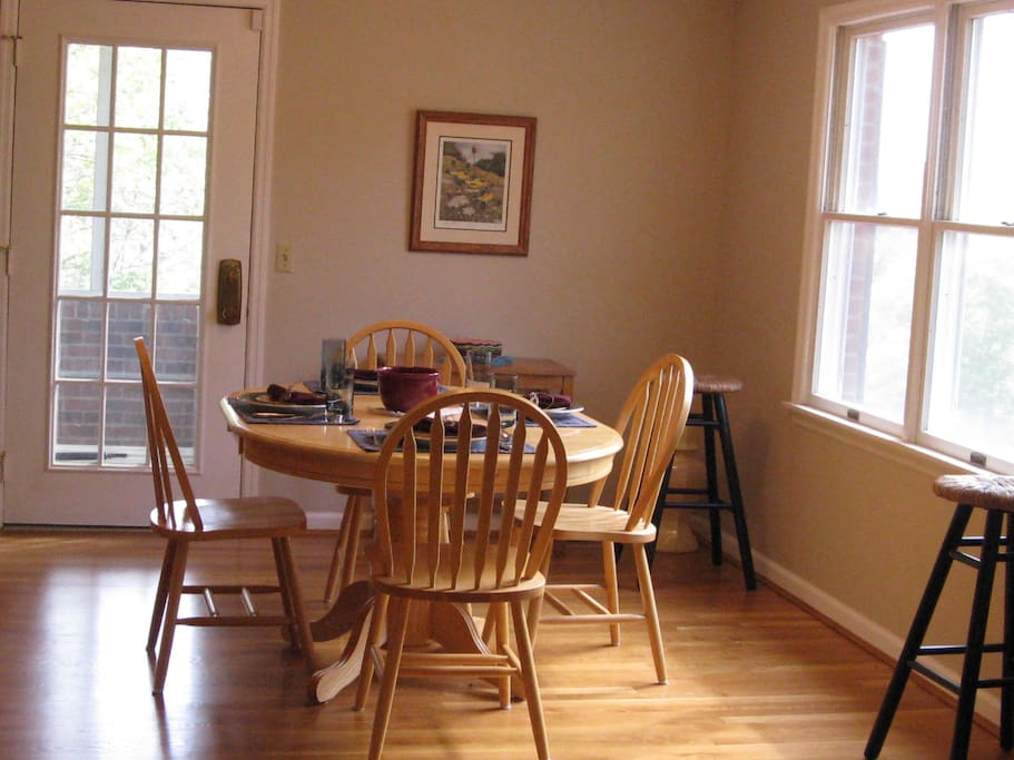 Bright and airy dining area...