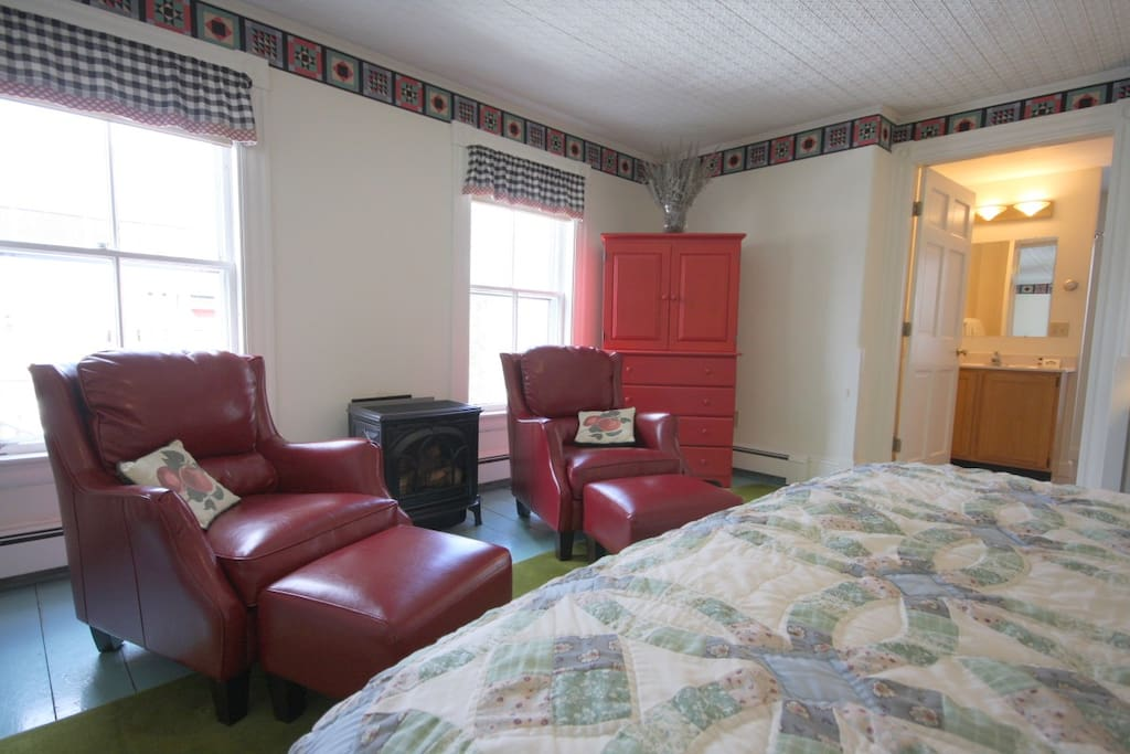 Room 2 has plenty of room for a rollaway bed for an additional guest.  Cable TV is inside the armoire.