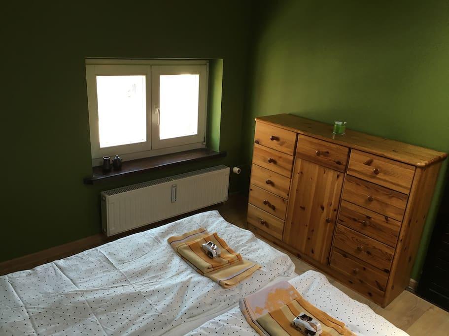 Sypialnia 1, widok z wnętrza / Bedroom 1, view from the inside