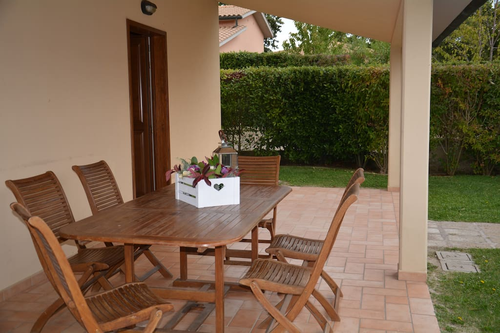 The Patio with table and chairs