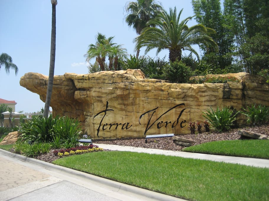 Gated entrance to Terra Verde Resort