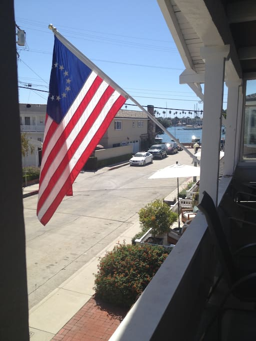View of the bay from the porch.