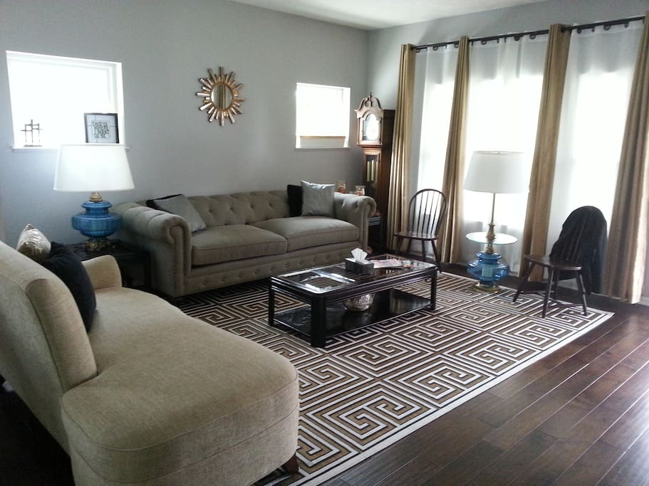 Get comfortable in the living area where there's plenty of room for you to cozy up with a good book.