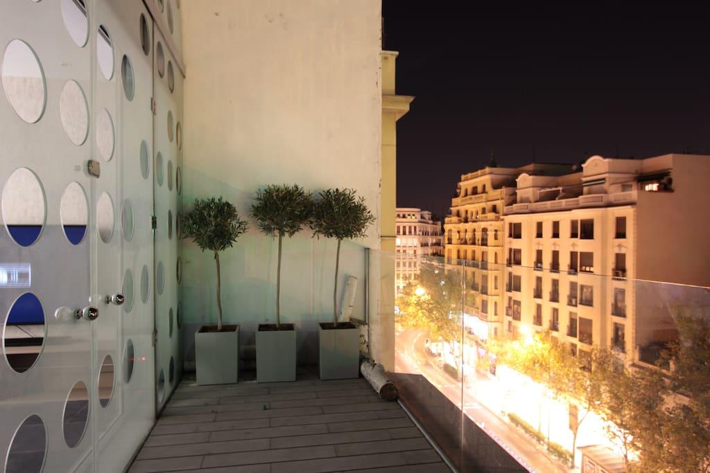 Vista de la terraza de la fachada de la calle princesa.
