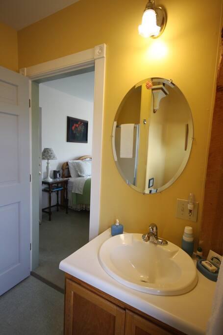 A peek from inside Room 5's bathroom.