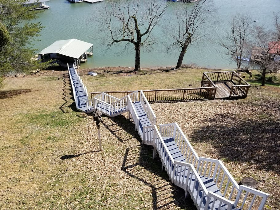 Stairs to private dock