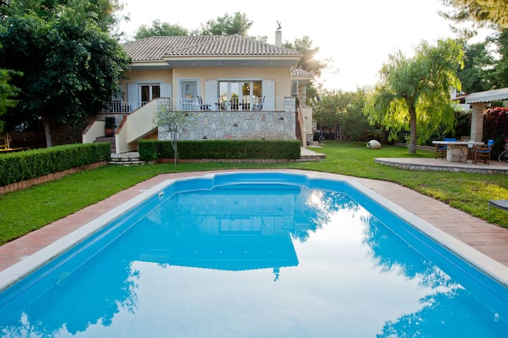 Private Pool Villa with view at Korinthian Bay