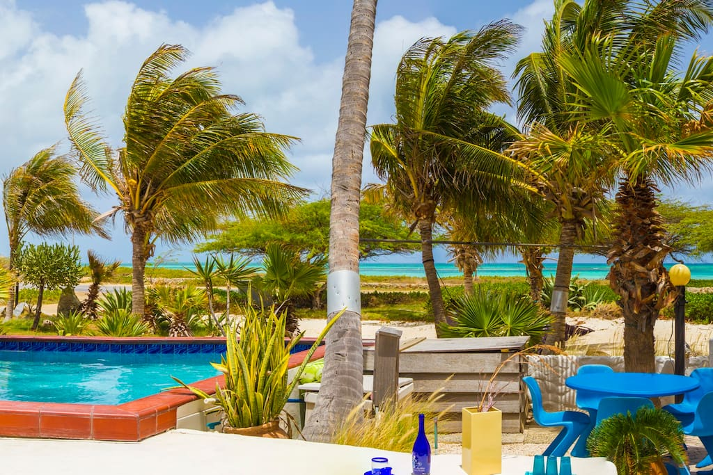 Try the Aruba Libre, sip it on your breezy outside Pavilion overlooking the blue surrounding sea.