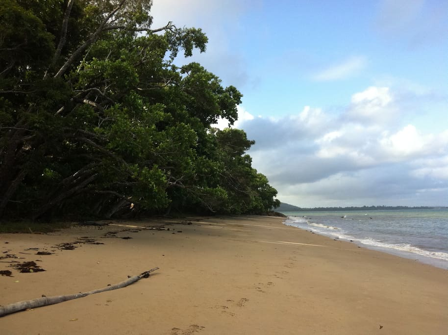 Nearby beach 3 minutes walk