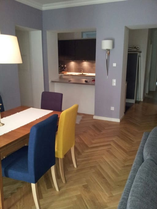 Open Living/Dining/ Kitchen (55m²)