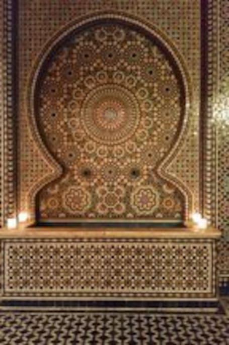 La fontaine décoration typique de la maison