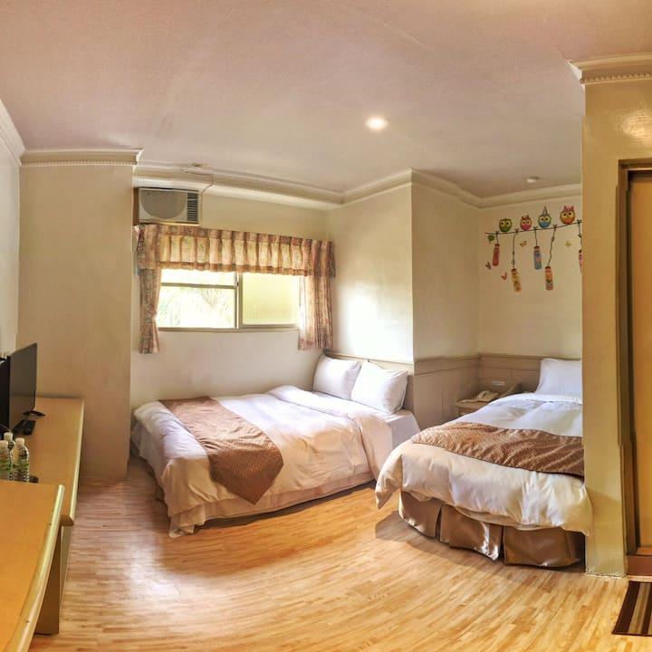 經濟3人房2張床