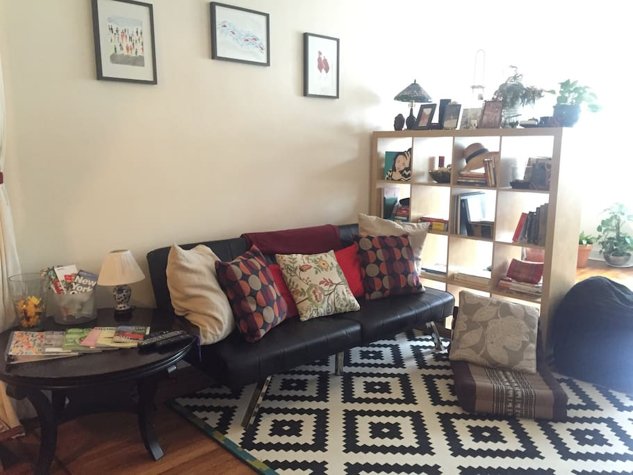 Living room and information corner