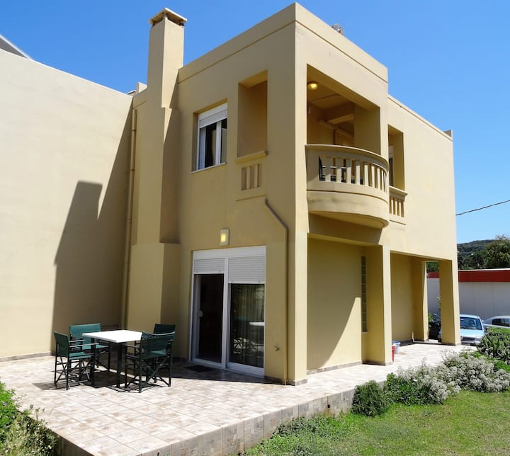 Split level house on the beach at Platanias