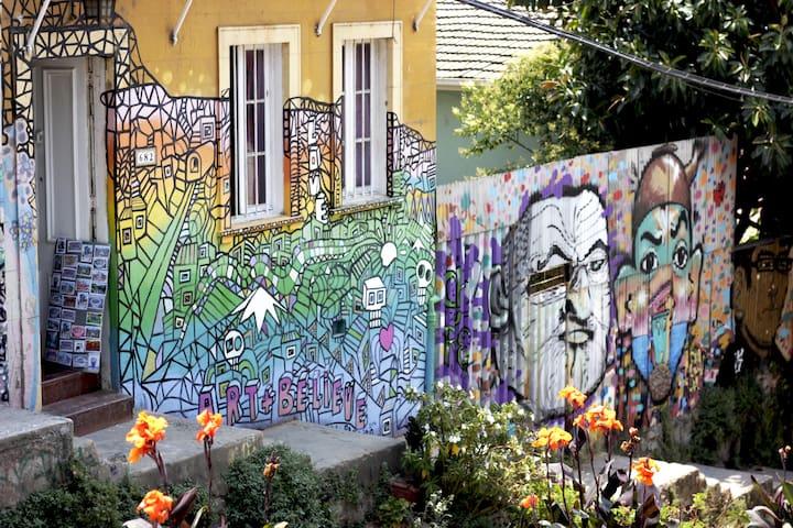 Pieza en Cerro Alegre, ubicación privilegiada. - Valparaíso - Huis