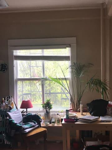 Desk and main window