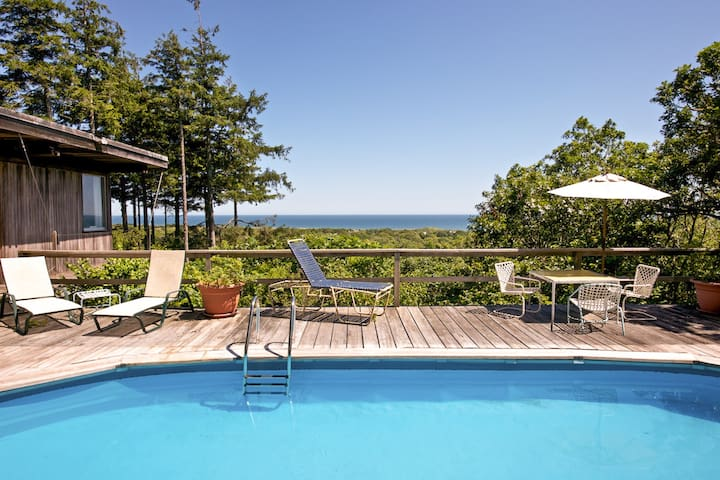 Iconic mid-century home with gorgeous ocean views, private pool and decks!
