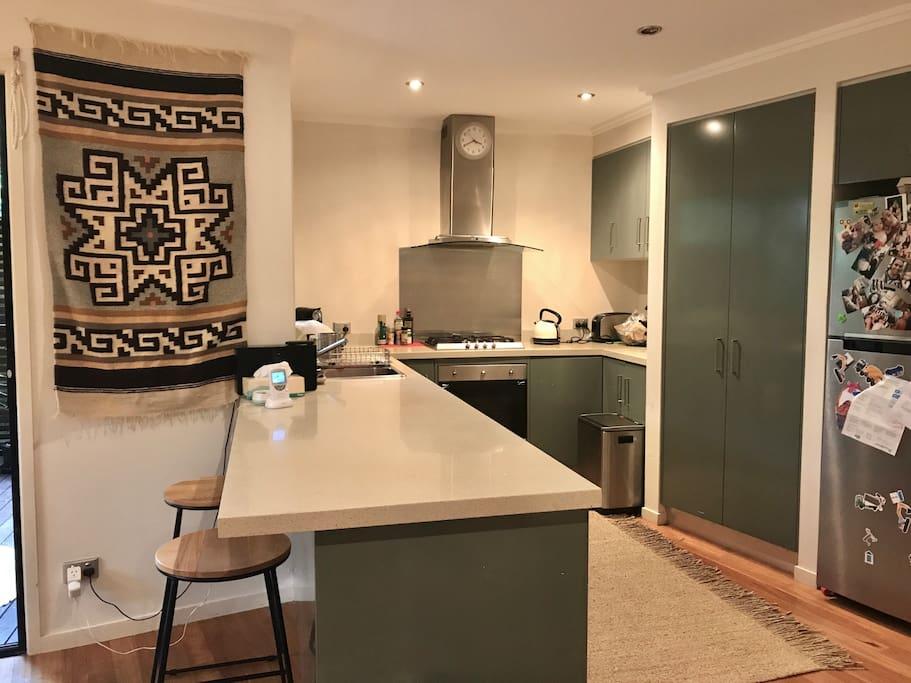 Gas cooking kitchen