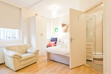 Studio 10 is a cosy & clean ground floor studio, with one comfy double bed. Fully equipped kitchenette, and separate bathroom. Literally 5 mins walk to O'Connell Street. Aircoach, Croke Park nearby too. Top choice for budget travellers.