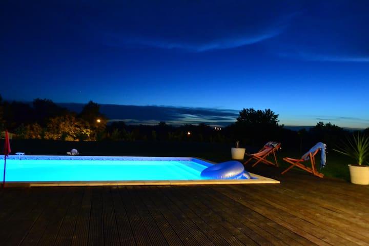 Belle villa avec grande piscine 11x5m - Foulayronnes - 別荘