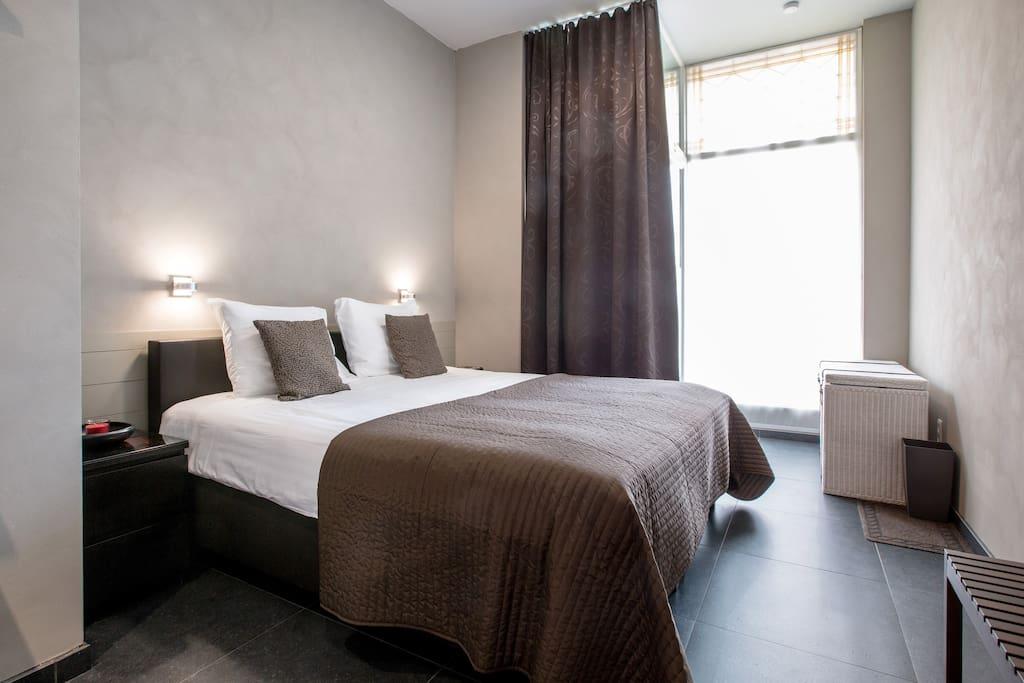 Slaapkamer met bed voor een prima slaapcomfort
