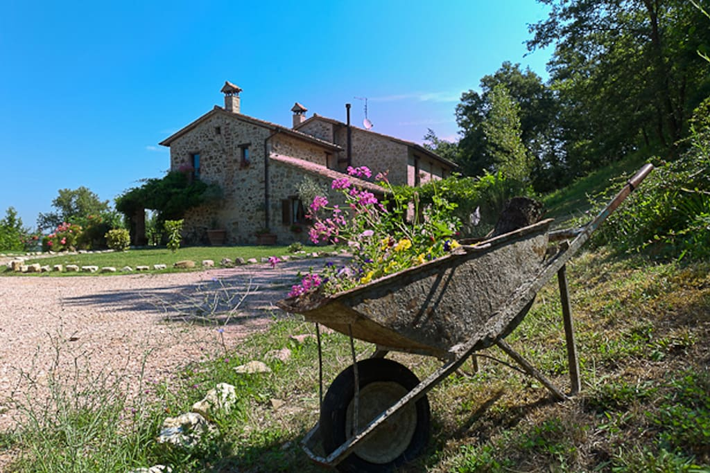 Wake up to birdsong and not city traffic when you stay at Casale San Bartolomeo