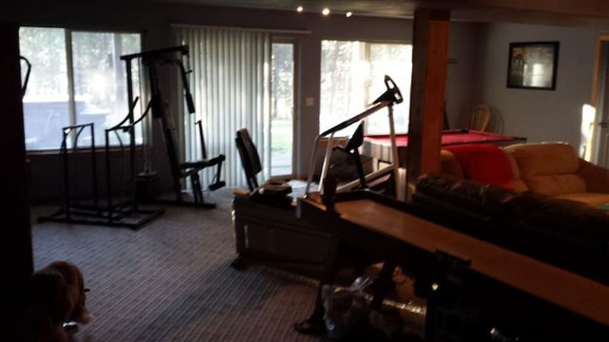 Includes home gym and FAR infrared sauna