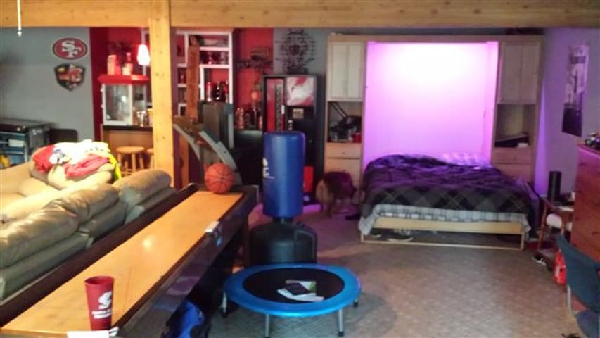 Includes game room shuffleboard Xbox and pool table